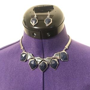 C+L Alpenglow Collar Necklace and Drop Earrings